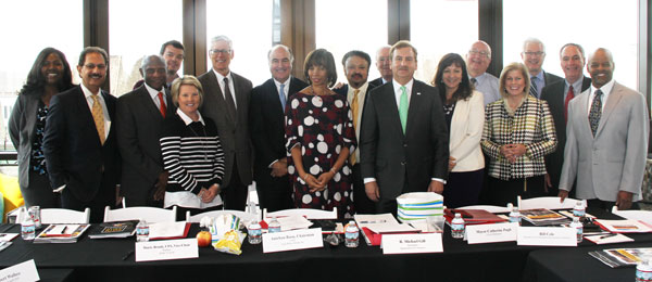 Maryland Economic Development Commission members meet with Mayor Catherine Pugh in Baltimore.