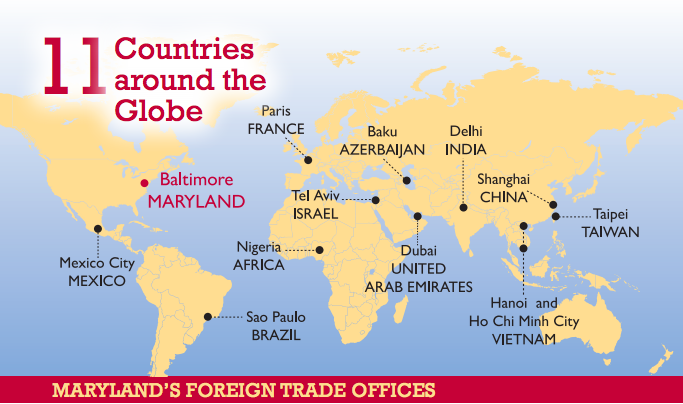 Maryland Foreign Trade Offices